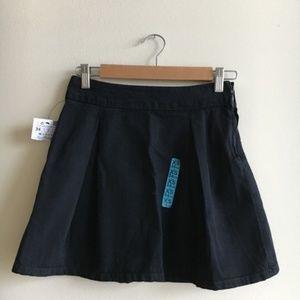 NWT Zara Trafaluc Fit Guide Black Denim Mini Skirt